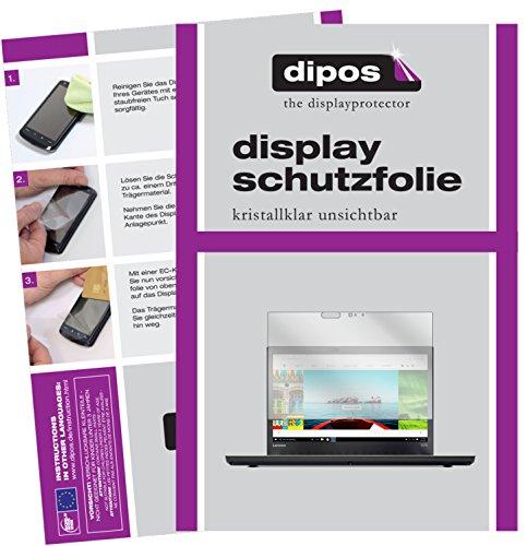 dipos I 2X Schutzfolie klar kompatibel mit Lenovo ThinkPad T470 Folie Bildschirmschutzfolie