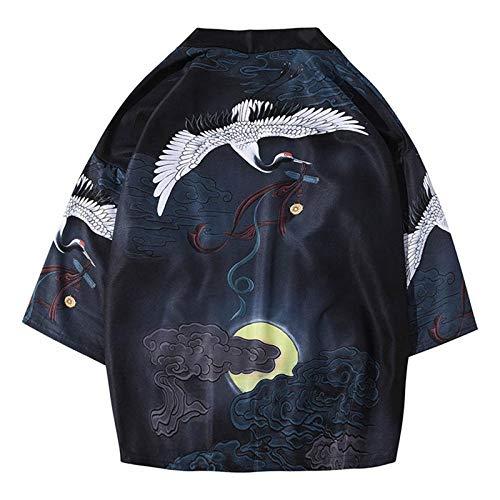 HNBY Kimono Cardigan/Haori/Chaqueta Tradicional Japonesa Ukiyo Ropa De La Grúa (Color : Color 3, Size : XXL)