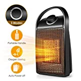 Space Heater, Portable Quiet Ceramic Space Heater, 750W/1500W Ceramic Electric Heater Mini Desk Personal Heater with Tip-Over & Over-Heat Protection for Home/Office/Bedroom