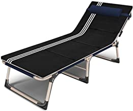 YSDHE Sunbed Reclining Folding Bed Siesta Recliner Reclining Camping (Color : T4)