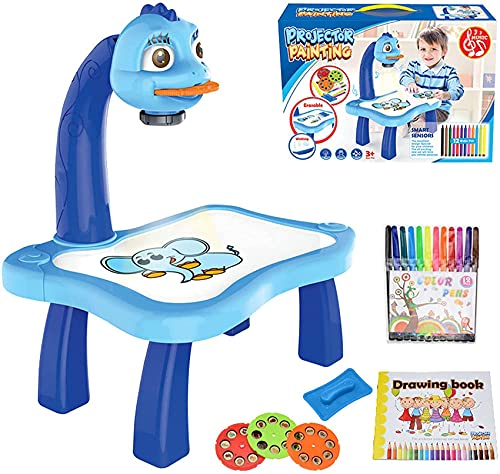 FitBest Drawing Projector Table for Kids, Trace and Draw Projector Toy with Light & Music, Educational Early Learning Projection Drawing Table, Graffiti Children Projection Drawing Board