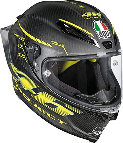 AGV Casco Moto Pista Gp R E2205 Top PLK, Matt Carbon, XL