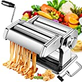 Manual Pasta Maker Machine, 7 Thickness Adjustable Stainless Steel Noodle Makers with Aluminum Alloy...
