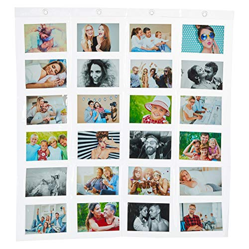 Fotohalter Fotowand Kunststoff Fototaschen (24 Fotos Querformat 10 x 15 cm)