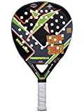 DROP SHOT Maremoto 1.0 - Pala de pádel, Color Negro/Gris/Verde/Naranja, 38 mm