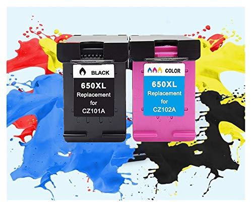 TZZD Reemplazo Compatible 650XL Cartucho de Tinta for HP 650 XL for HP Deskjet Impresora 1015 1515 2515 2545 2645 3515 3545 4515 4645 (Color : 1BK 1Tri Color)