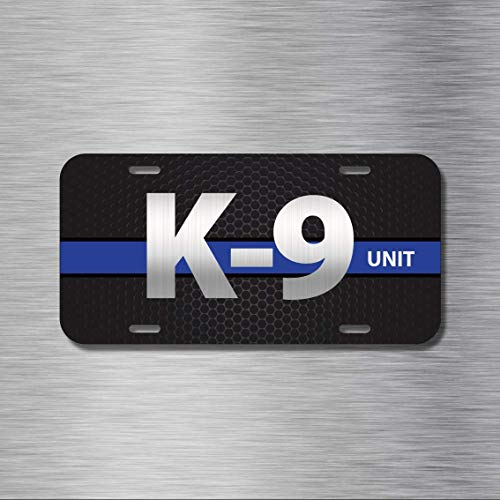 ZMKDLL K9 Police Training Dog Security Vehicle License Plate,Decorative Metal Car Plate Sign Auto Tag | Aluminum Plate 12 X 6 inches