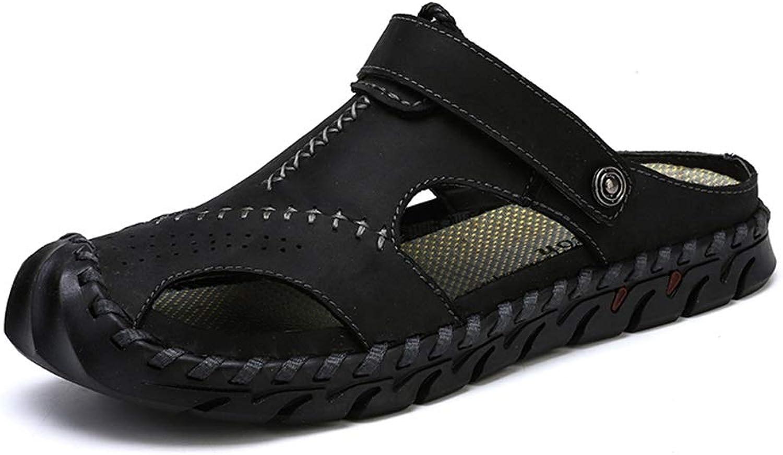 Herrenschuhe Mode weiche Sandalen beiläufige atmungsaktive geschlossene Zehe Outdoor Dual-Zweck Slipper,Grille Schuhe  | Exquisite (in) Verarbeitung