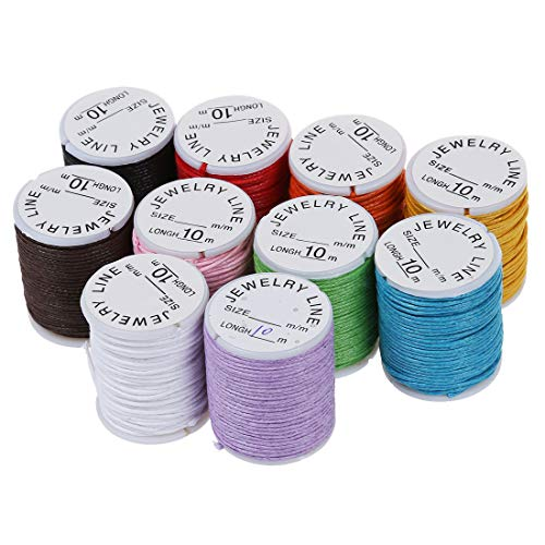 Haudang - Cuerda de algodón (10 m, 0,9 mm, 10 m), multicolor