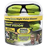 As Seen On TV Battle Vision Night Vision Glasses for Driving by BulbHead - Amazing Night Driving Glasses Protect Eyes From Blinding Headlight Glare - Green Lenses Enhance Clarity - Flexible Frames