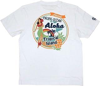 ALOHA MADE アロハメイド メンズ 半袖 Tシャツ (メンズ ホワイト) 202MA1ST055 フララニ サーフブランド ハワイアン (L)