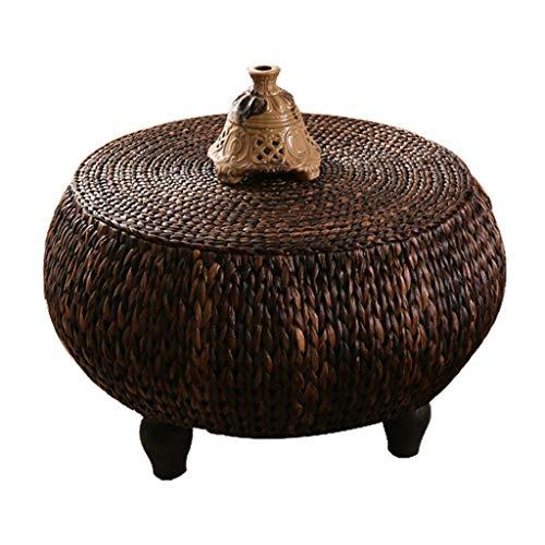 LXZDZ Rattan Wood Mesa de café, la Vendimia rústica Diseño Industrial Muebles robustas Patas del Marco del sofá Mesa de Ping