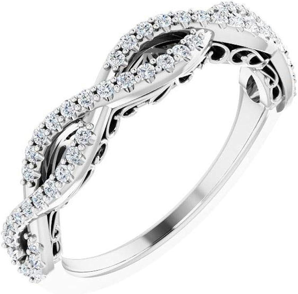 1 4 Cttw Diamond Wedding SALENEW very popular! Ring Band .25 Anniversary discount Width