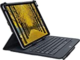 Logitech Universal Folio Cover iPad o Tablet con Tastiera Bluetooth Wireless, Apple, ‎An...