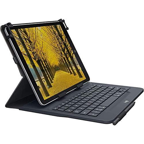 Logitech Universal Folio Cover iPad o Tablet con Tastiera Bluetooth Wireless, Apple, Android, Windows da 9-10 Pollici, Facile Configurazione, Durata Batteria fino a 2 anni, Italiano Qwerty, Nero