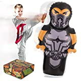Inflatable Punching Bag for Kids, 56 Inches Ninja Bop Bag Toy Bounce Back with Stand, Durable Boxing Punching Bag for Karate, Birthday, Ourdoor Party Favor for Boys, Girls and Teens