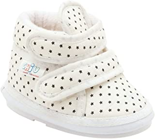 CHIU Boys and Girls Stars Printed Double Velcro Musical in White Colour