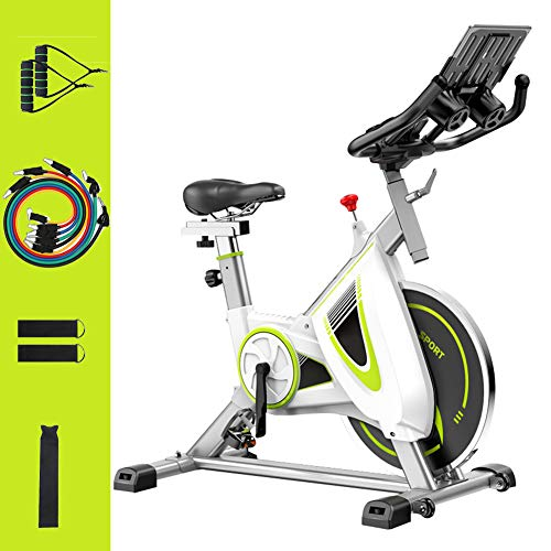 Sale!! DAGUO Indoor Cycling Bike with Exercise Resistance Band Set,Spinning Bike with Caged Pedals, ...