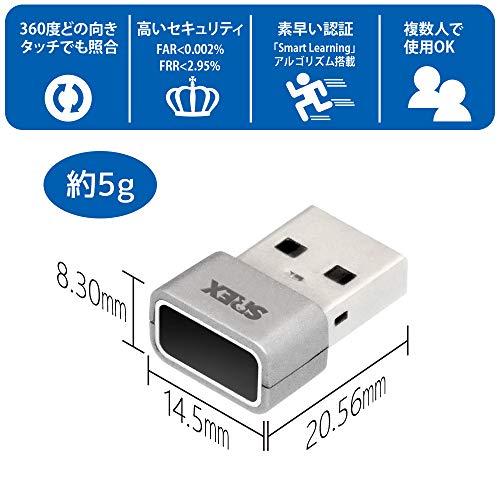 ラトックシステムタッチ式USB接続指紋センサーシステムセットSREX-FSU4G