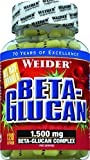 WEIDER Beta-Glucan Kapseln, 1.500 mg Beta-Glucan-Komplex, höchste Rohstoffqualität, 120 Kapseln -