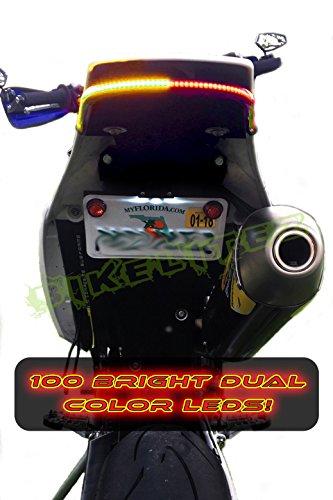 BikeLiteZ Supermoto Fender Eliminator Integrated Tail Light (Smoked) To Fit: 17-19 Husqvarna FE501