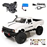 C24-1 RC Car Crawler 4WD Off-Road Truck with Bright Headlight, DIY Remote Control Children RC Car, Climbing Vehicle Speed Model Toys