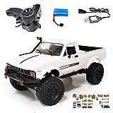 Buyfunny01 RC coche WPL 4-1 niños regalo 4WD DIY control remoto niños velocidad modelo juguetes camioneta escalada vehículo Racing eléctrico (C24 1)