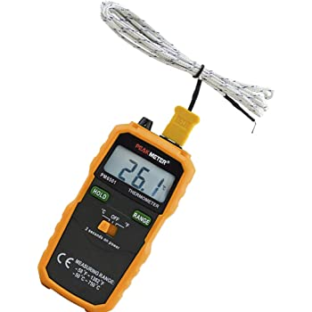 Thermometer PEAKMETER PM6501 K Type Thermocouple Sensor Digital LCD Temperature Thermometer Testing Tool for Refrigerator Boiling Water Fish Tank