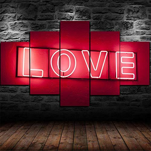 DFBSF Fem heminredning i trä canvasmålningar/eld röd kärlek-30 x 40 cm 30 x 60 cm 30 x 80 cm/heminredningsmålningar, abstrakta målningar används i sovrum, vardagsrum, babyrum, etc.