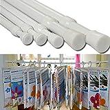 Generic 133-250cm Retractable Valance Curtain Pole Window Rail Rod