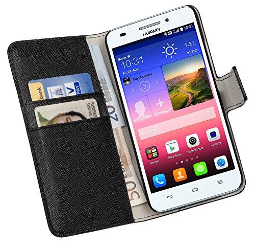 yayago Book Style Tasche für Huawei Ascend G620S Hülle mit Kartenfächern