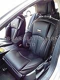 R - Adecuado para Volkswagen Golf 4 Coche, Fundas de asiento, YS01 RECARO SPORTS, NEGRO