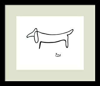 picasso dog print framed