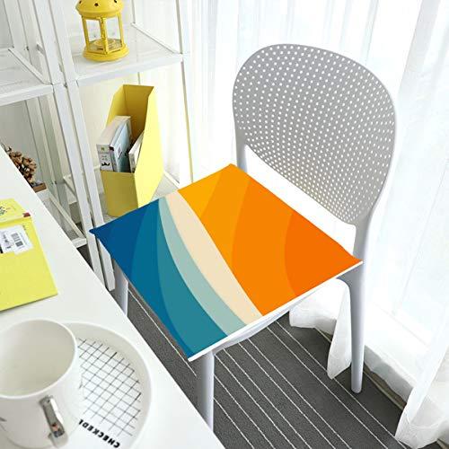 Cómodo cojín de silla cojines de asiento para sillas de comedor Pad abstracto paisaje arte cuadrado extraíble cubierta interior exterior sala de estar patio jardín oficina cafetería