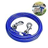 SANTOO 5 M Cable de Amarre para Perros, Cable para Atar Perros para Cachorros Perros Medianos Grandes hasta 45 kg