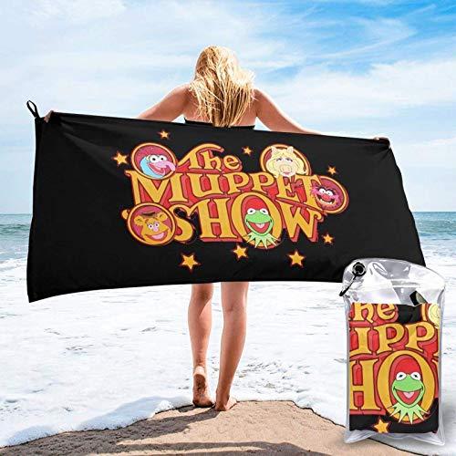 Yuanmeiju Toalla de baño de secado rápido Towel Muppets Show Towel Soft Bathroom Travel Quick Dry Towel