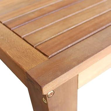 vidaXL Table et Chaises de Bar 7 pcs Bois d'Acacia Massif Mobilier de Bar