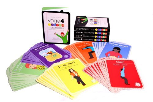 Yoga 4 Classrooms Activity Card Deck - Yoga Cards for Kids - 67 Colorful Cards for Learning Yoga - Mindfulness Cards for Kids Yoga Cards for Kids - Kids Yoga Cards Mindfulness Cards