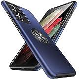 Anqrp Hiddenian Serier Funda Samsung Galaxy S21 Ultra 5G, [Pata de Cabra Empotrada] [Disipación de Calor] Funda Protectora Teléfono a Prueba de Golpes para Samsung S21 Ultra 6.8 Pulgadas, Azul