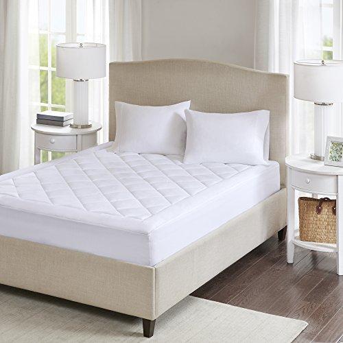 SCM Serenity 3M Scotchgard - Protector de colchón acolchado, impermeable, funda de cama ajustable de 30 cm de profundidad