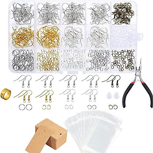 MMYAN 800 piezas de herramientas de reparación de joyas, anillos divididos para pendientes, pendientes, pendientes de papel, anillo de salto abierto para hacer pulseras, pendientes, accesorios