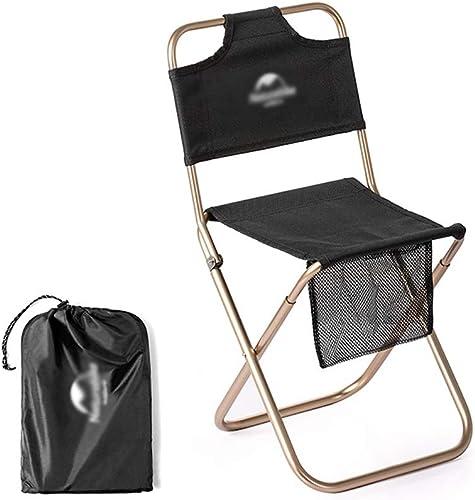 Hwt's Folding chair Chaise Camping Plein Air Portable Chaise Camping Enfants Adapté La Partie Camp D'été des étudiants (2 Couleurs) 23.5  23.5  26.5cm (Taille   Noir, UnitCount   5 Packs)