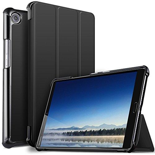 IVSO Huawei MediaPad M5 8.4 Hülle, Ultra Schlank Ständer Slim zubehör Schutzhülle ideal geeignet für Huawei MediaPad M5 8.4 Zoll 2018 Modell Tablet PC, Schwarz