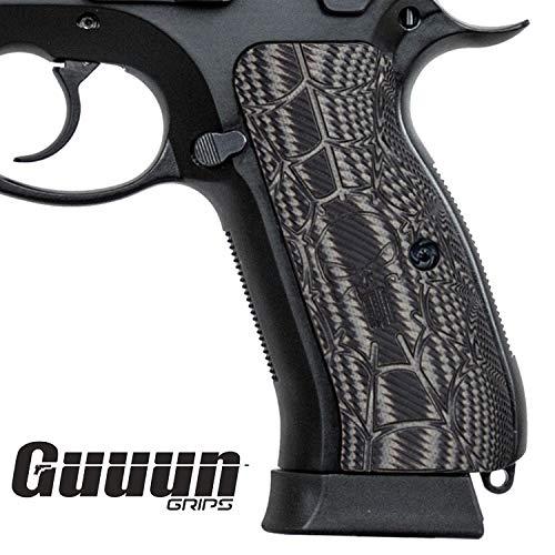Guuun CZ75 Griffe Volle Größe CZ 75 SP01 Grips Tactical Pistolen G10 Cobweb Punisher Skull Texture