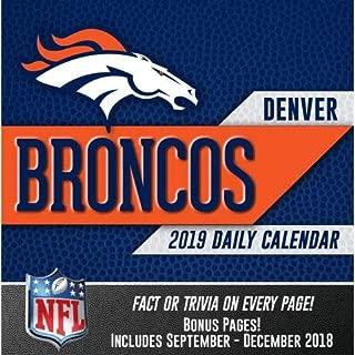 2019 Denver BRONCOS 365 Page-A-day DAILY CALENDAR/Desk Calendar