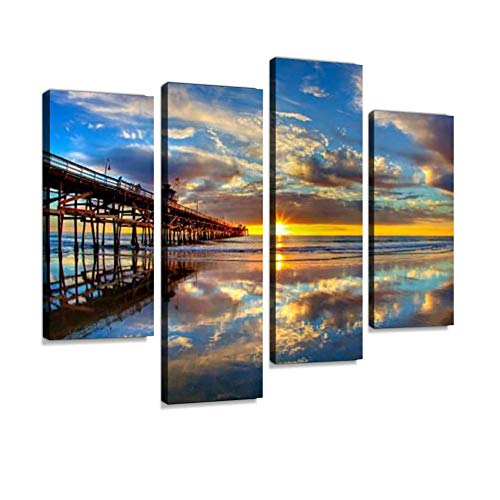Paint By Number Kits ZYKXSJ Diy Oil Painting By Numbers Digital Oil Painting Canvas Wall Art Artwork Skyscraper 16*20 Inches Linen Canvas