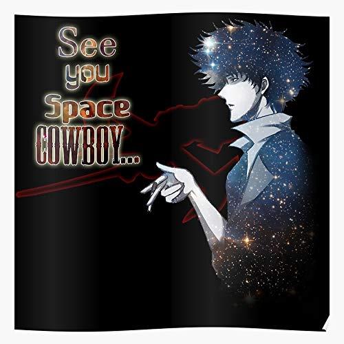 shagmu Spiegel Space Poster Spike Cowboy, das Beste und neueste Plakat für Wandkunst Wohnkultur Zimmer