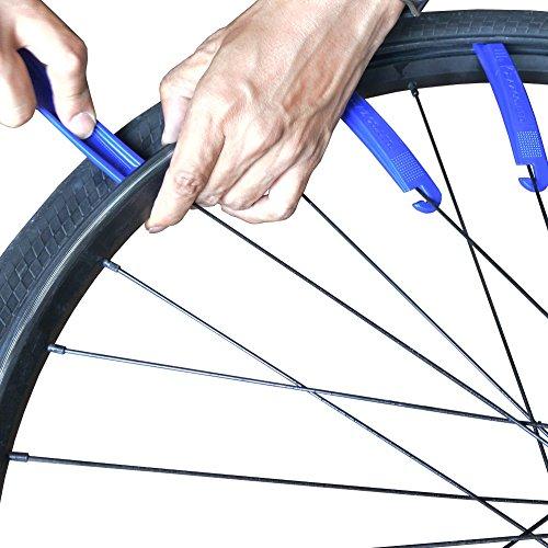 AZBPW-001自転車用タイヤパウダー4.5g+パンク修理パッチ6枚+タイヤレバー3本組SF361