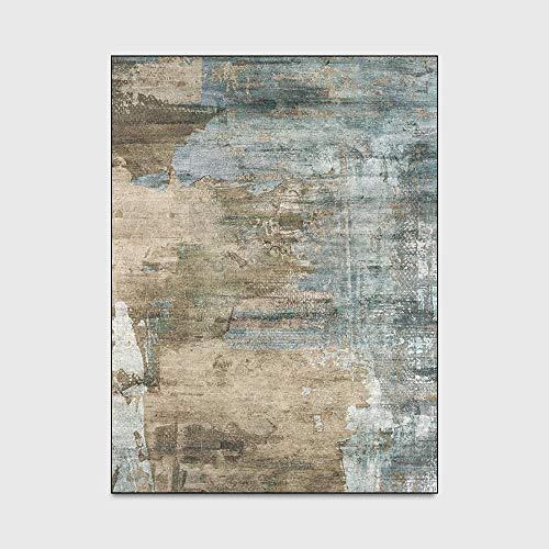 WIVION Abstrakter Teppich rutschfeste Bodenmatte Dekorative Teppiche Waschbare Kriechende Babyteppiche Matte Nachtteppich Für Wohnzimmer Home Schlafzimmer Sofa Couchtisch,100 * 160cm(39x63inch)