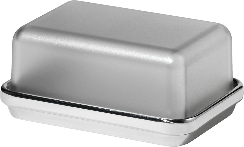 Alessi Butterdose aus Edelstahl glänzend glänzend glänzend poliert mit Deckel aus SAN, grau B000G8NONG 771290